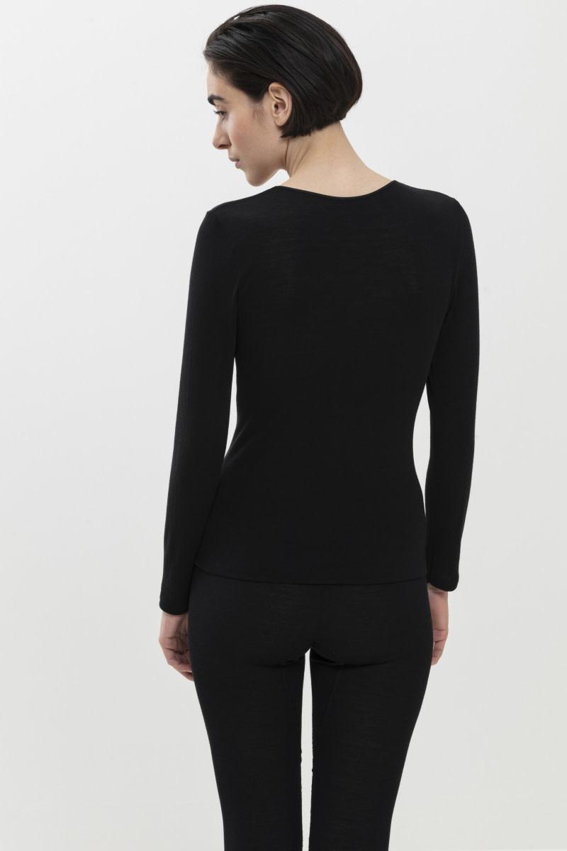 T-shirt lange mouw Exquisite 66577 - zwart-2