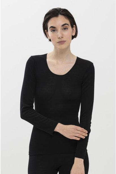 T-shirt lange mouw Exquisite 66577 - zwart
