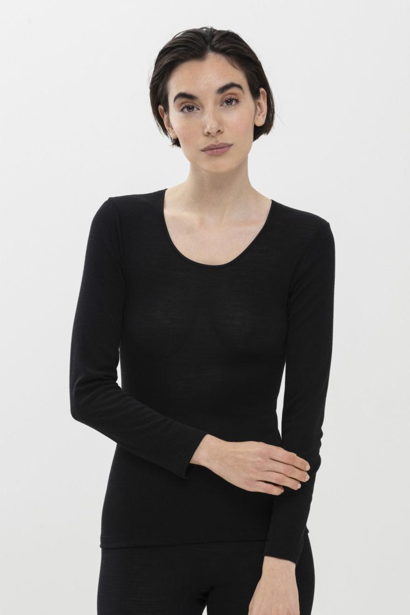 T-shirt lange mouw Exquisite 66577 - zwart-1