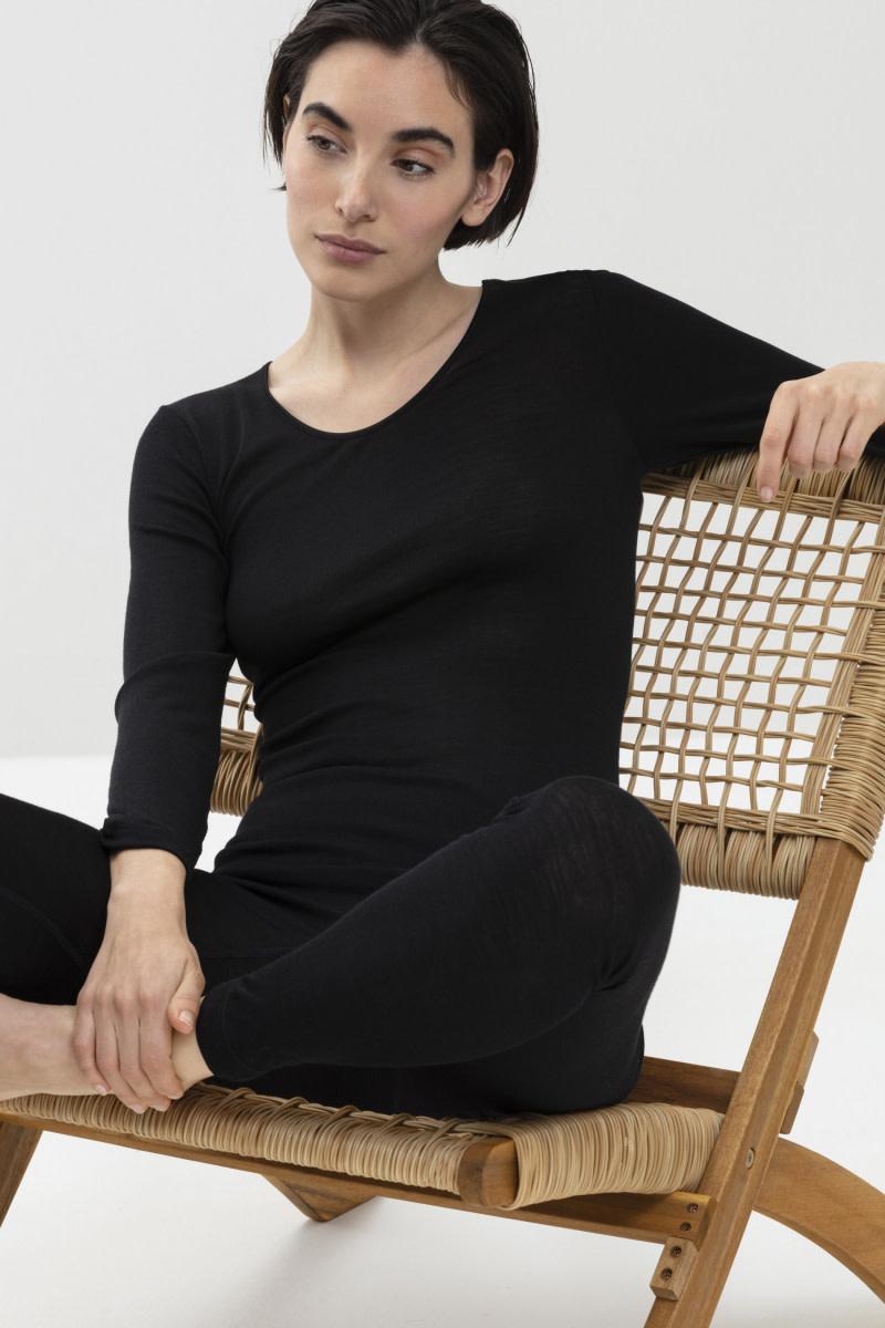 T-shirt lange mouw Exquisite 66577 - zwart-3