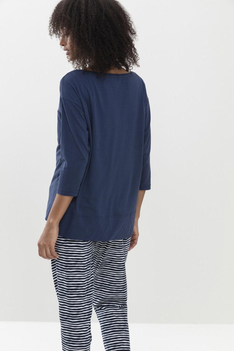 T-shirt 3/4 mouw Liah Night2day 16110 - blauw-2