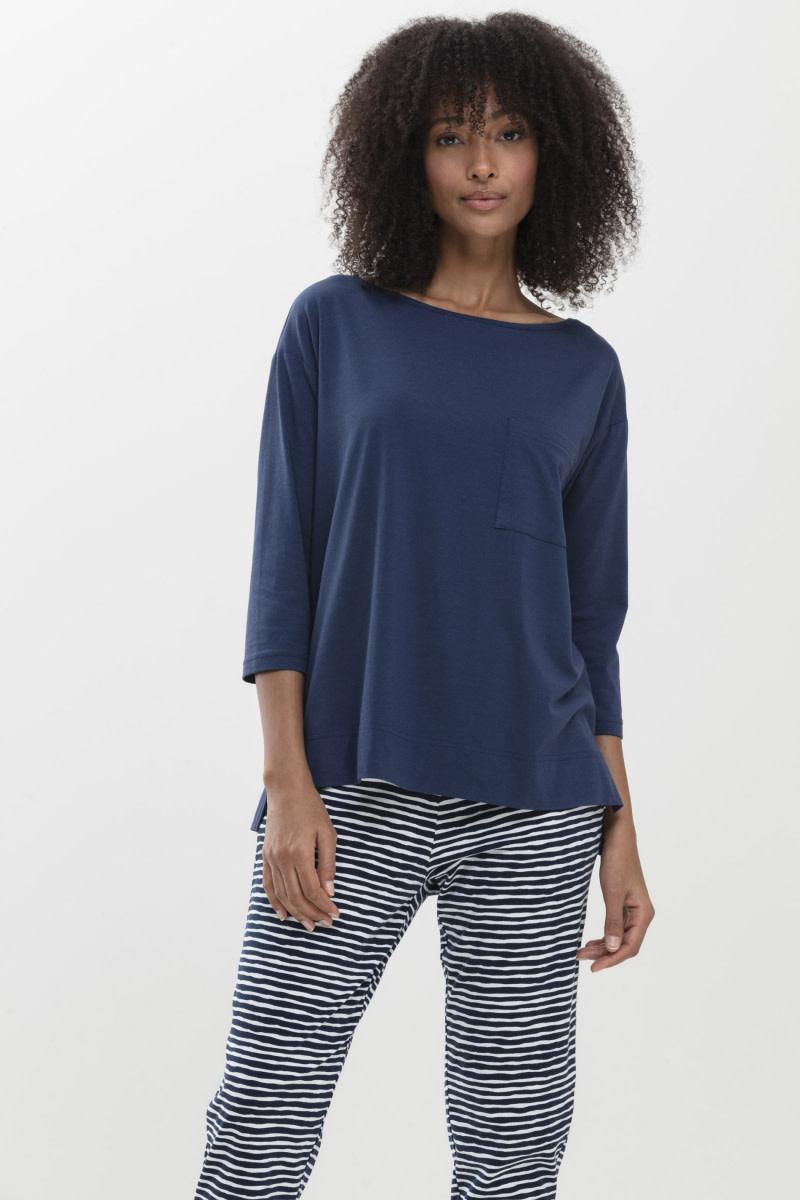 T-shirt 3/4 mouw Liah Night2day 16110 - blauw-1