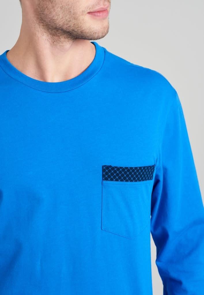 Pyjama lange mouw 175678 royal blue-3