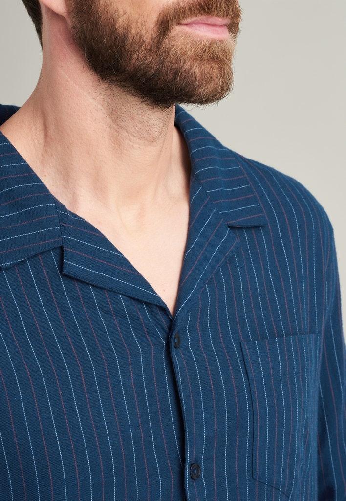 Flanel Pyjama lange mouw met knopen 175611-3