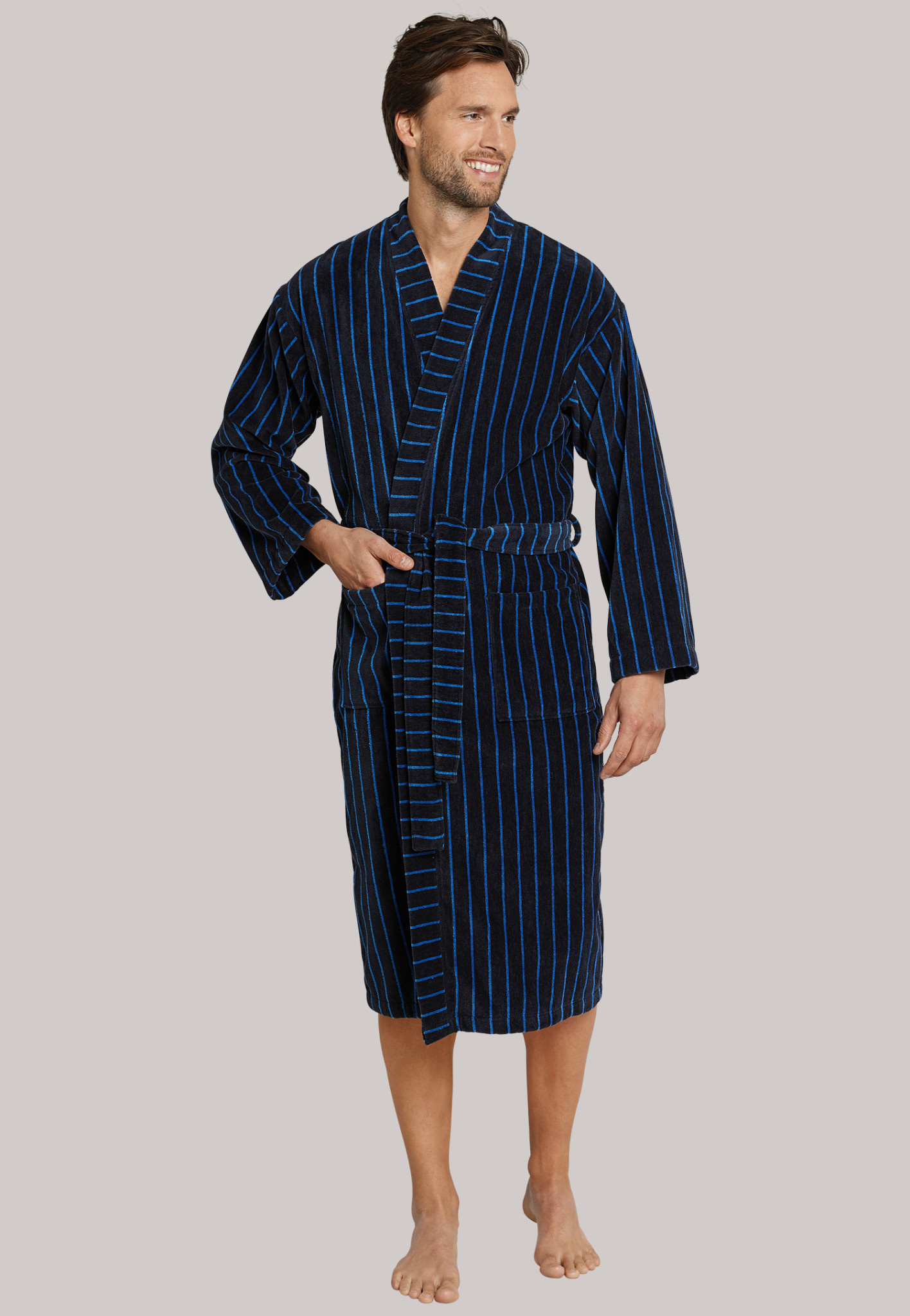 Badjas 142106 - donkerblauw-3