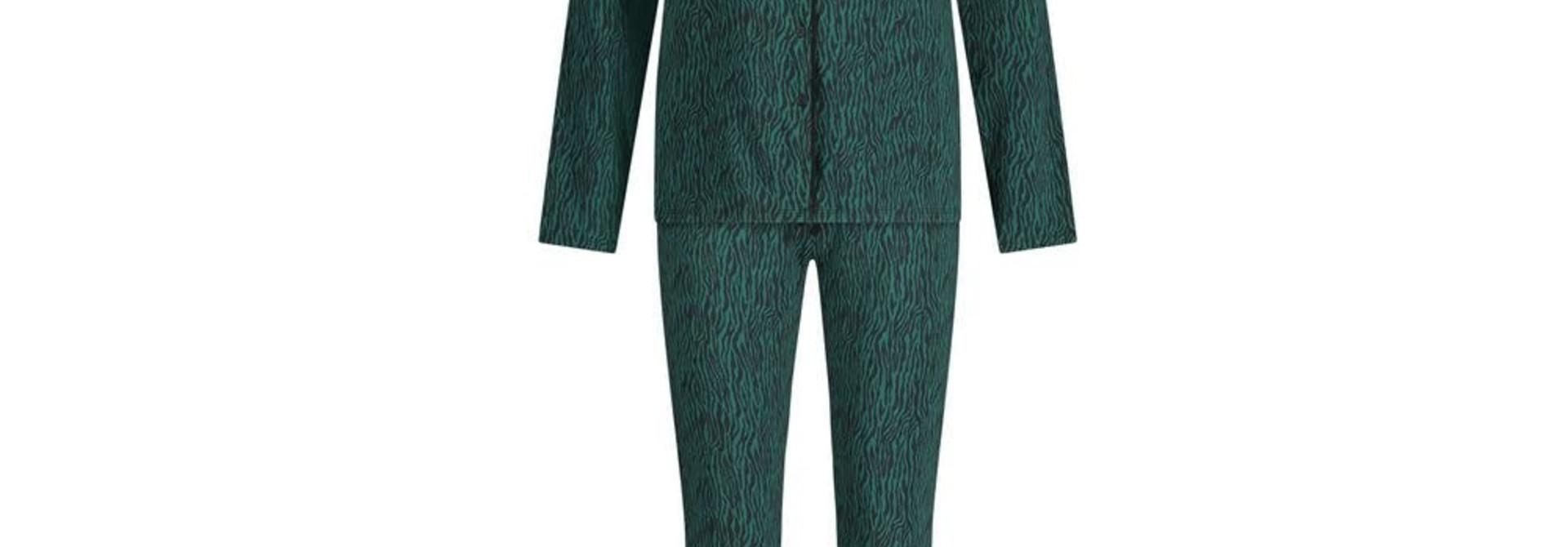 Pyjama lange mouw 32036 - zebra forest green