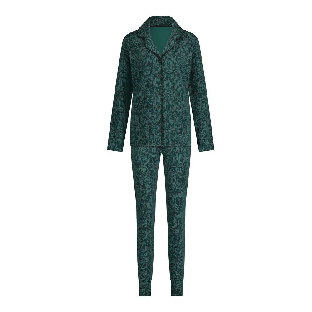 Pyjama lange mouw 32036 - zebra forest green-1