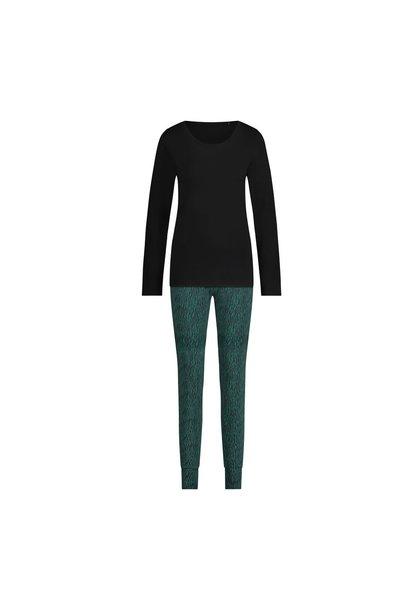 Pyjama lange mouw 32038 - zebra forest green