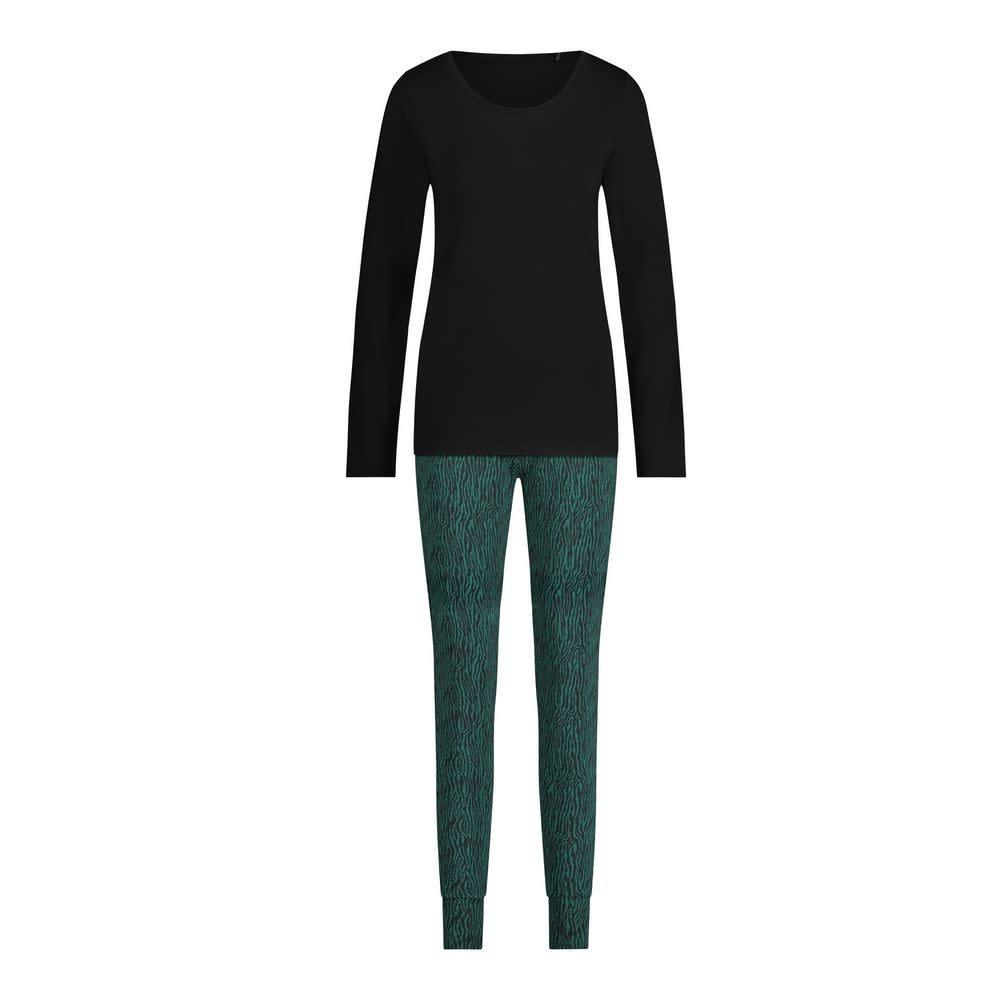 Pyjama lange mouw 32038 - zebra forest green-1