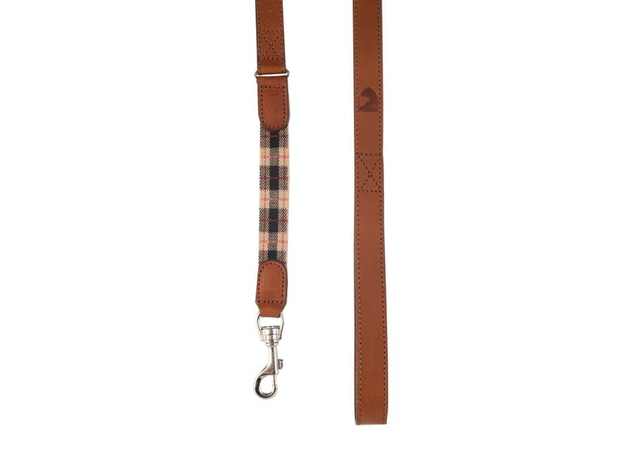 Edimburgh beige dog lead