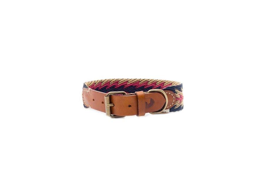 Peruvian Arrow blue dog collar