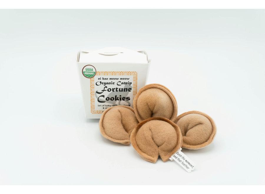 Organic Catnip Toy Fortune Cookie set