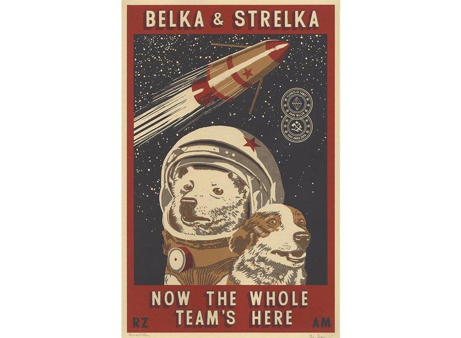 Belka and Strelka limited artprint
