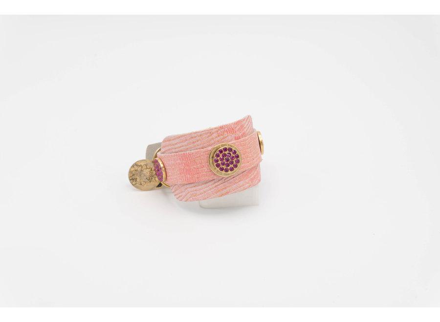 Shiney Pink Double Collar XXXS
