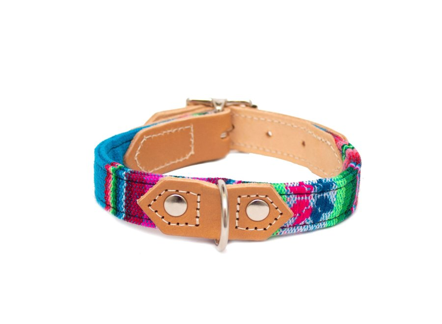 Honden halsband Blue Inca
