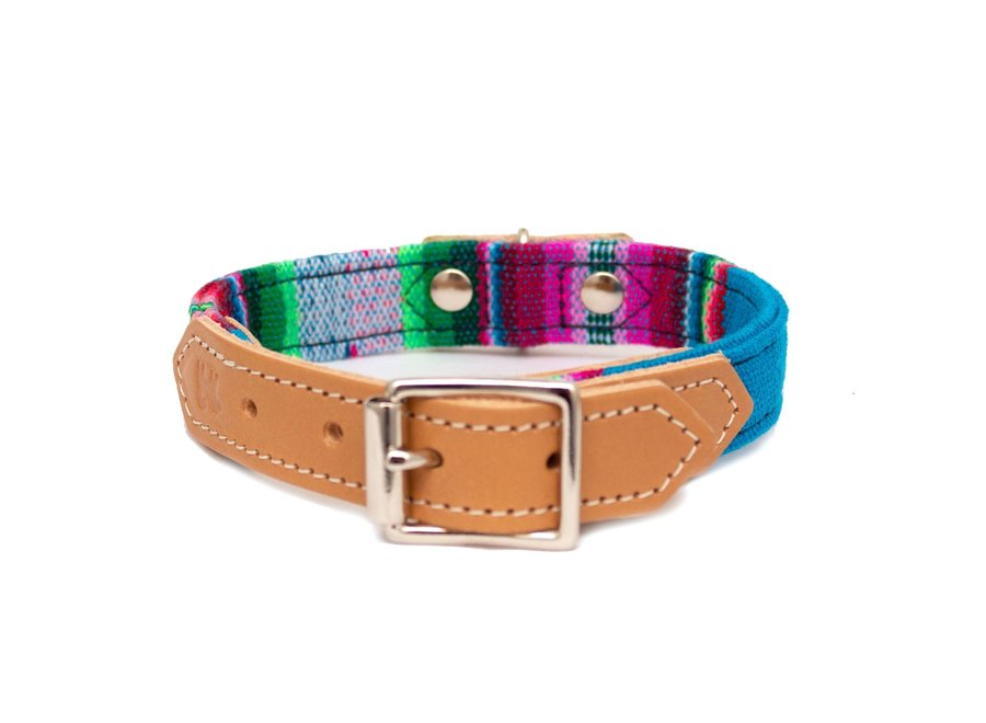 Dog collar Blue Inca