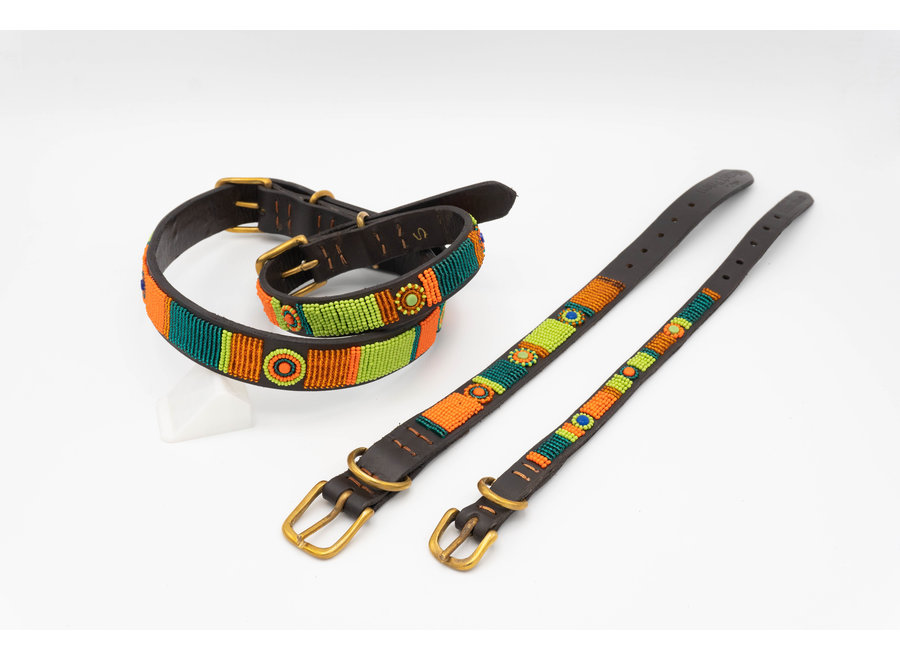 Beaded dog collar XS 1,5 cm Lucy