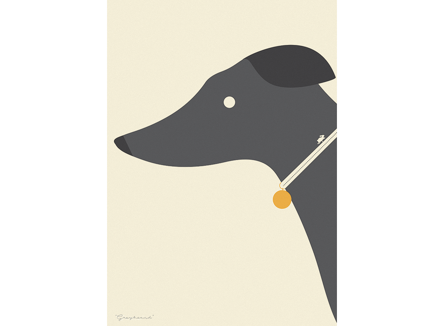 Needle Design - ArtPrint Greyhound Whippet