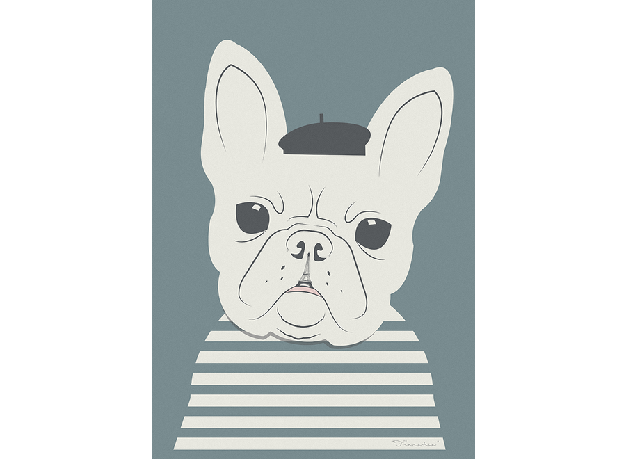 Needle Design - ArtPrint French Bulldog