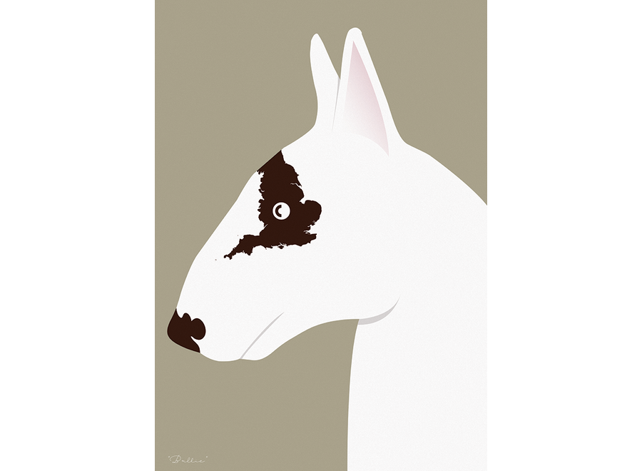 Needle Design - ArtPrint English Bull Terrier