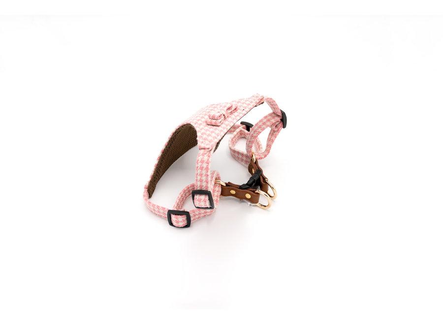 Pepita harness Pink/White