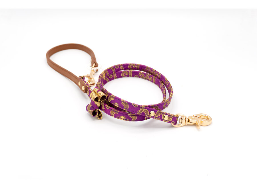 Satin Tibet Purple leash