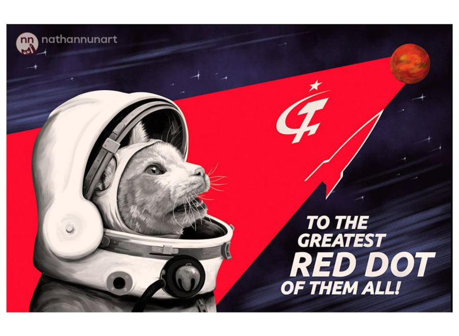 Sovjet Cat Red Poster