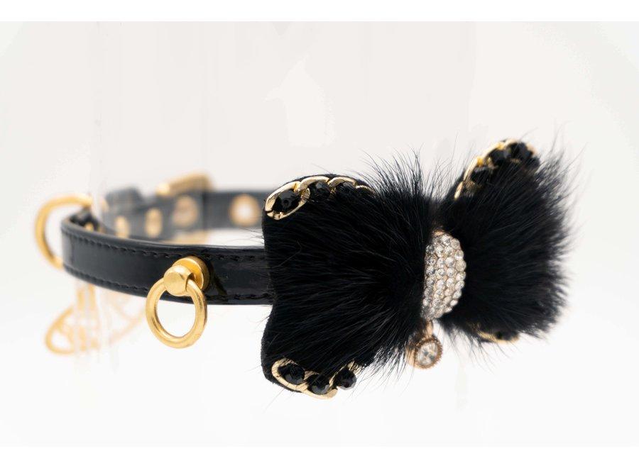 Honden halsband Aggie Black