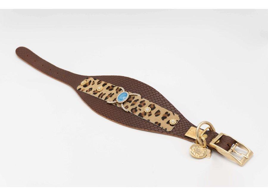 Leopard Ivy halsband L