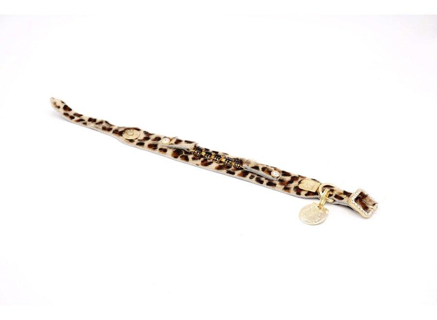Petit Noir Leopard halsband