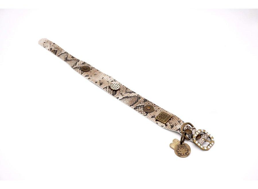 Beige Snake halsband