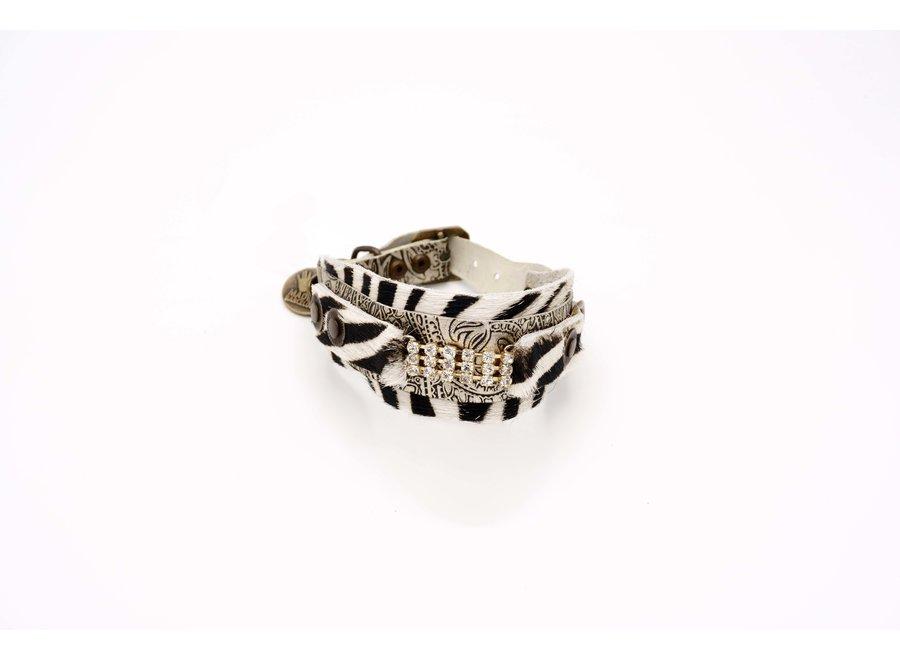 Paisley Zebra Dream Double Collar