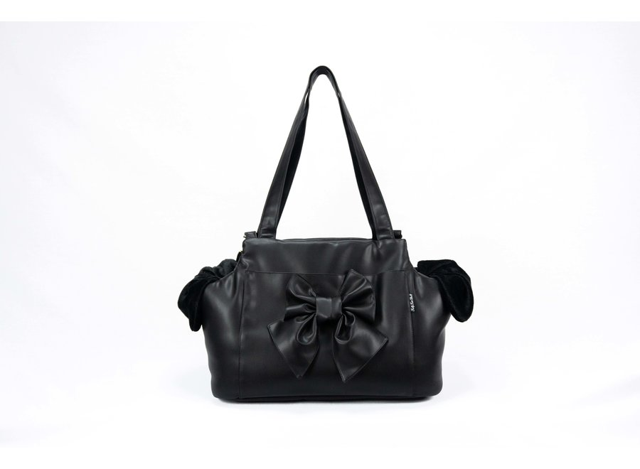Dog Carrier bag Sierra Black Bow Large
