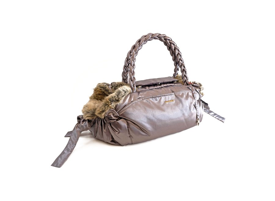 Dog Carrier Silver Bag