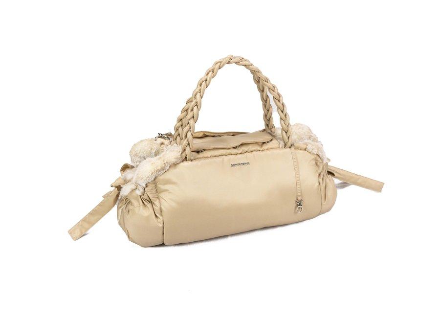 Dog Carrier Bag Love Beige