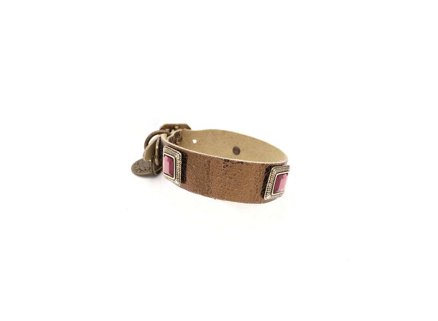 Amethist Bronze halsband