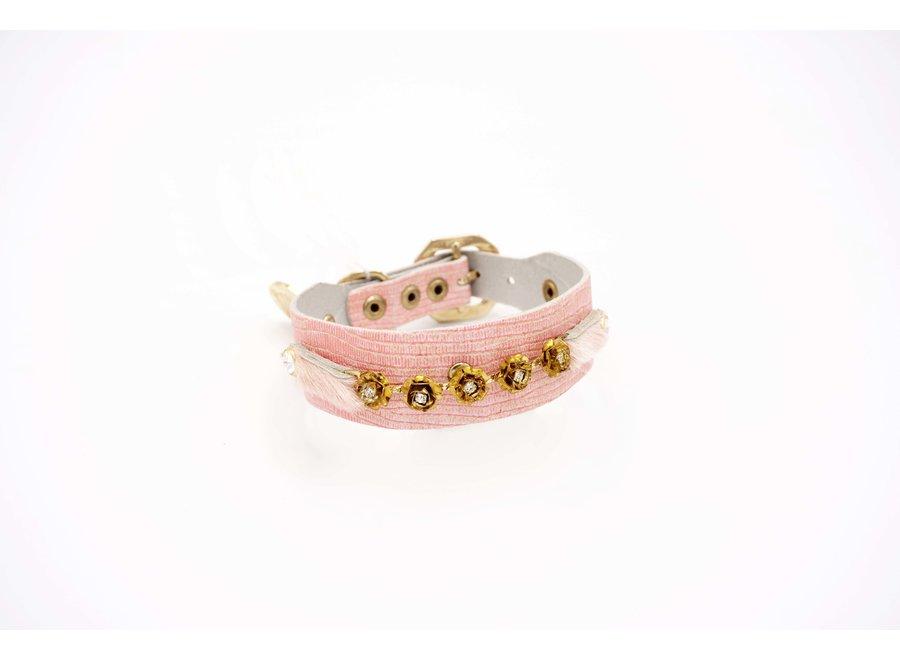 Cupcake Pink halsband  S