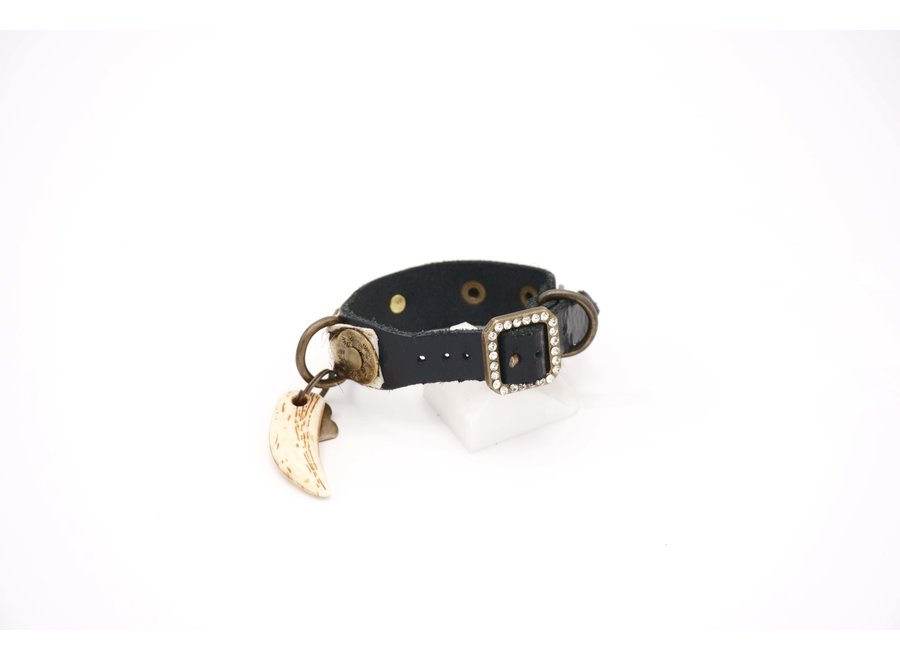 Salvaje Black Zebra Coins collar XXS
