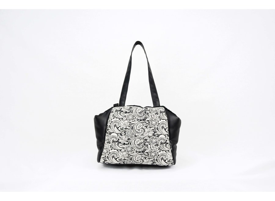 Victoria Black Cream Lace draagtas