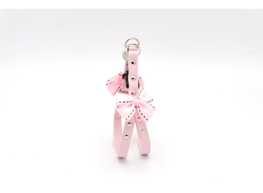 Opla Ernesto nappa roze harness