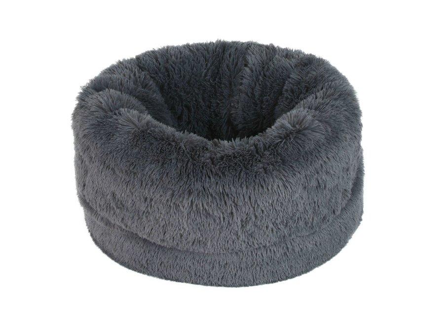 Fluffy bed Grey
