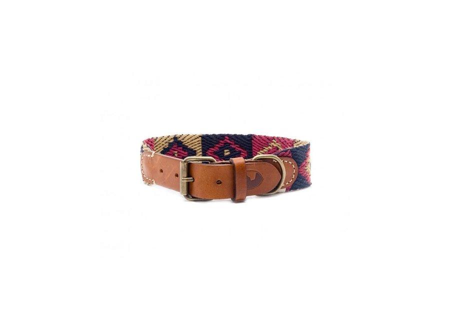 Peruvian Indian  blue dog collar