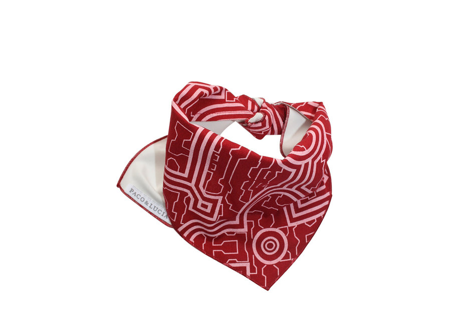 Two Panel Bandana red
