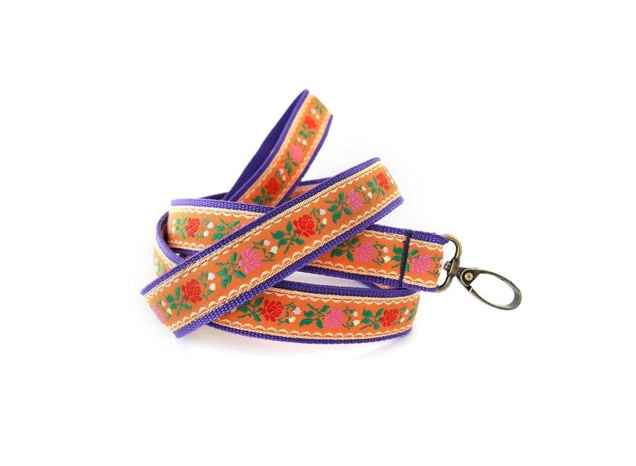 Boho Leiband Flower Orange