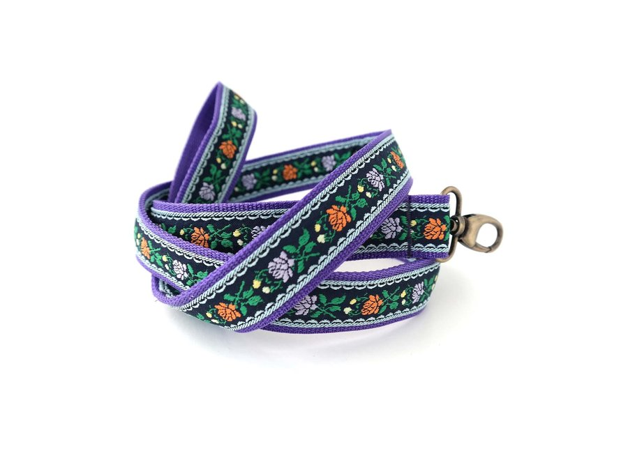 Boho Leiband Flower Black/Purple