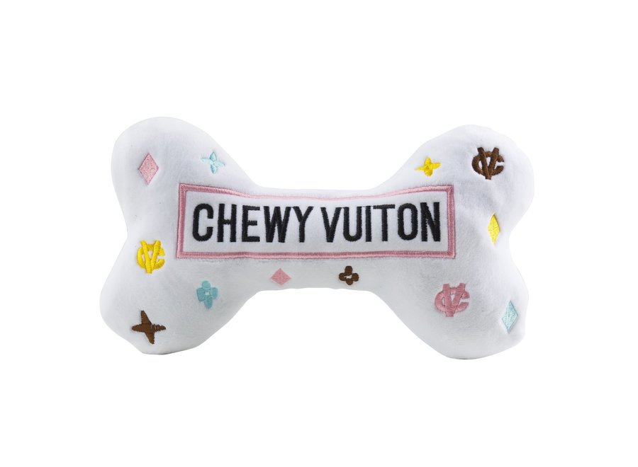 Dog Toy Chewy Vuiton White Bone