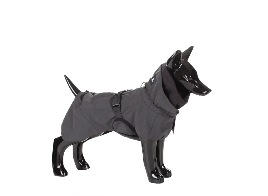Raincoat reflective dark grey