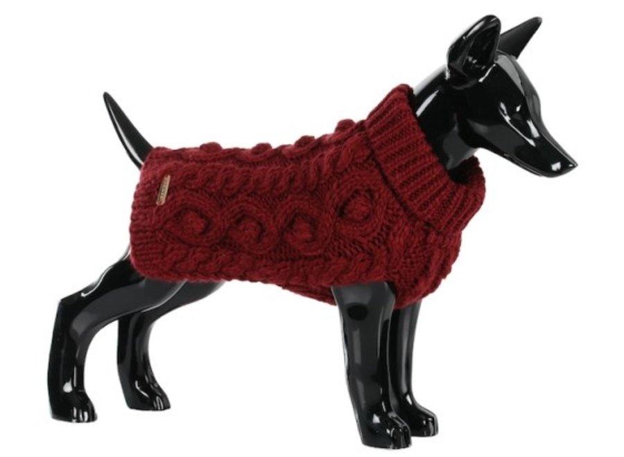 Handmade Knit Sweater Bordeaux
