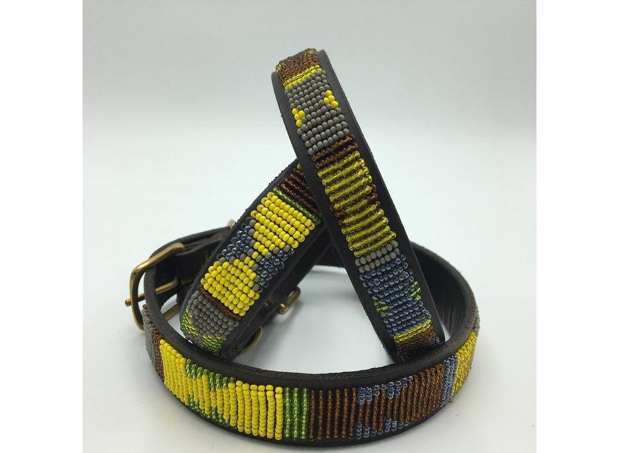 Beaded Dog collar Pimms