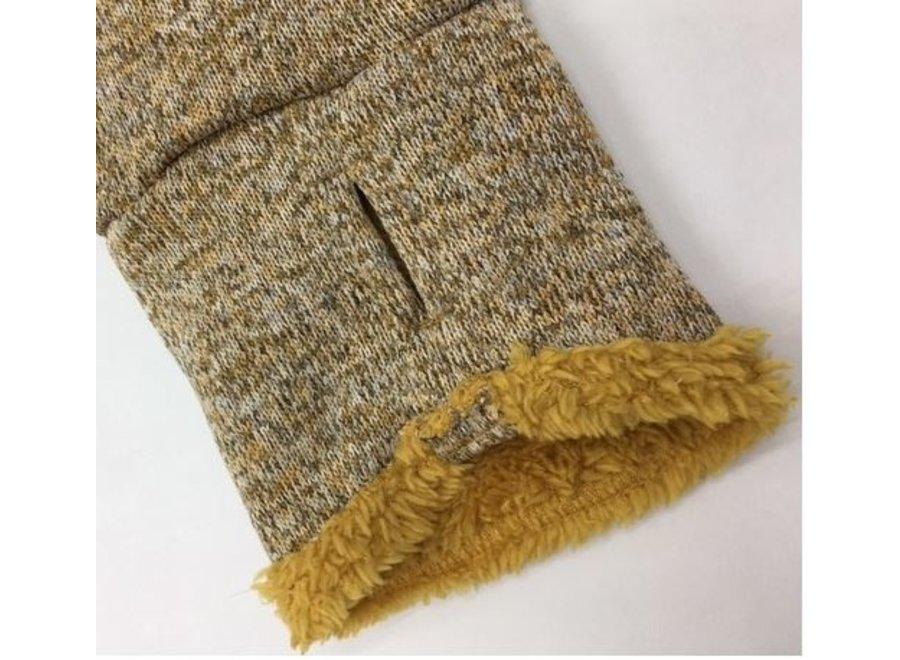 Warm Sweater voor windhonden Oker/Beige